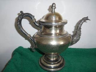 Fine Early American Made Silver Plated Tea Pot photo