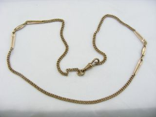 Antique Victorian 9ct Rose Rolled Gold Necklace Chain photo