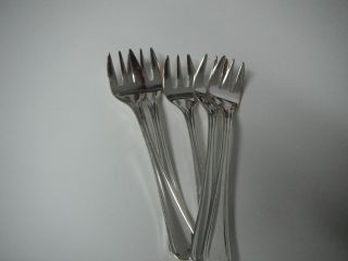 Hepp Silverplate Flatware Coctail Fork Set Of 6 photo
