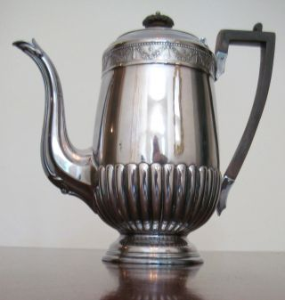 Antique Victorian English Silverplated Teapot By Frederick Wilson Sheffield photo