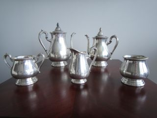 Reed And Barton Jamestown Silver Plated 5 - Piece Tea Set photo