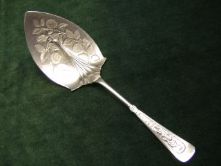 Antique Silver Pastry Server Arcadian Figural Rogers 1884 Engraved Blade photo