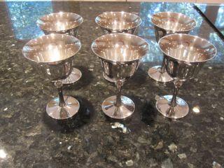 Rare Set Of 6 De Uberti Silver Italy Italian Goblets Cups,  5 1/4
