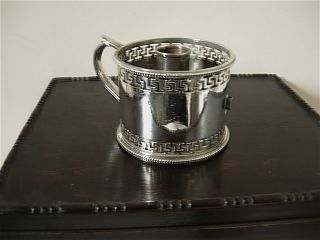 Antique Silverplated Candlestand With Pierced Decoration By Mappin Brothers photo
