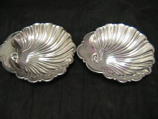 (2) Gorham Sterling Silver Bon Bon Seashell Bowl ' S - 445 photo