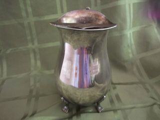 International Silver Co.  Hand Made Silver Plated Footed Water Pitcher/ Jug photo
