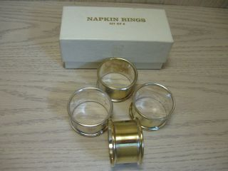Silver Plate Napkin Rings F B Rogers Qty 4 photo