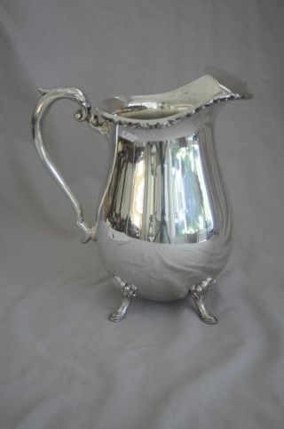 Vintage Crescent Silver Plate Water Pitcher photo