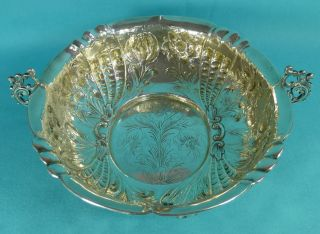 Large Victorian Sterling Silver Entree Vegetable Dish Charles Stuart Harris 1891 photo