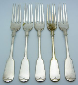 5 - Wp Silver Plate Dinner Forks Fiddle photo