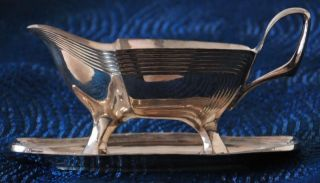 Antique Jugendstil Silver Plate Sauce Boat By Orivit 2659 Gravy Boat Wmf photo