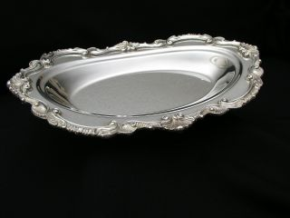 Wallace Chippendale Silverplate Hollowware Bread Tray - X111 - Hard To Find photo