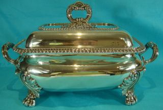 Important Georgian Sterling Silver Soup Tureen Benjamin Smith 1821 Huge 4,  487gms photo