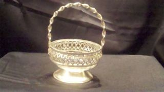 Silver Plate & Glass Candy Basket photo