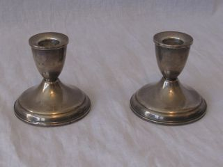 Duchin Creations Sterling Silver Weighted Candle Holders photo