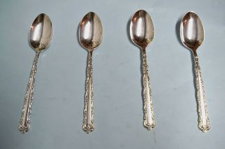 4 Bellfontaine Teaspoons - So Ornate 1973 Rogers - - Clean & Table Ready photo