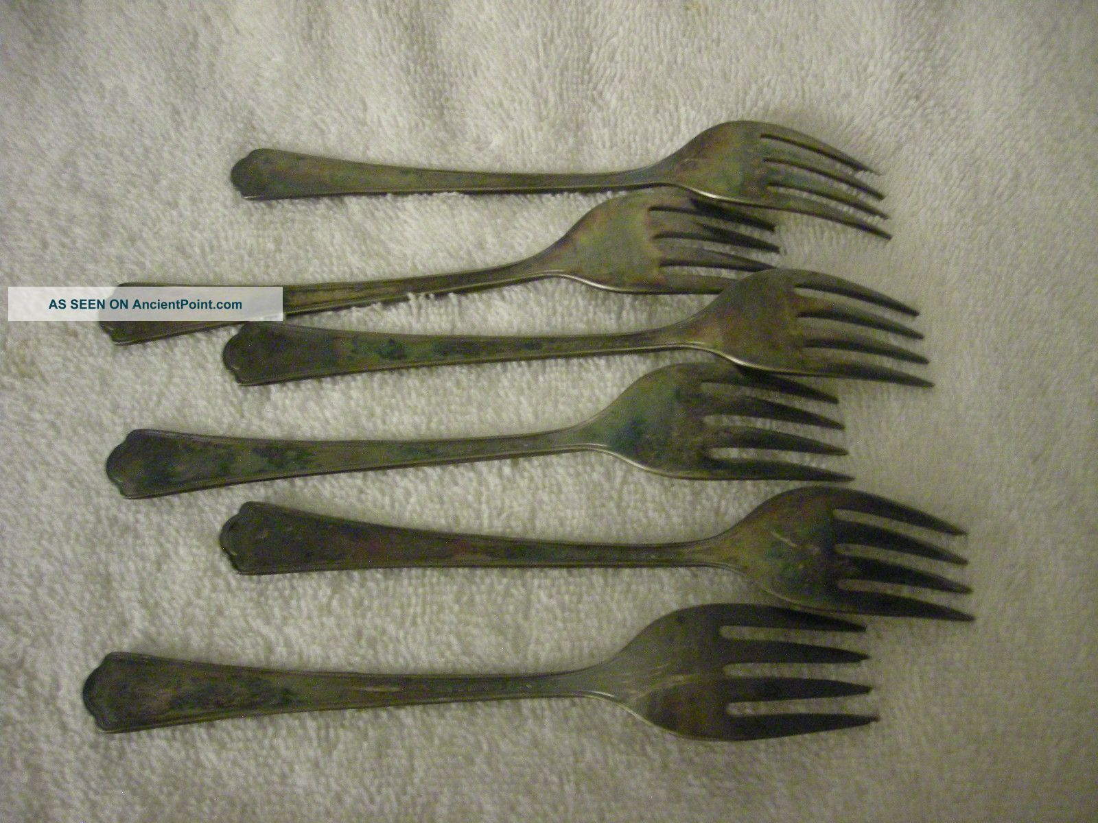 Valencia Silver Plate Dessert Forks 6 Pcs Vgc Other photo