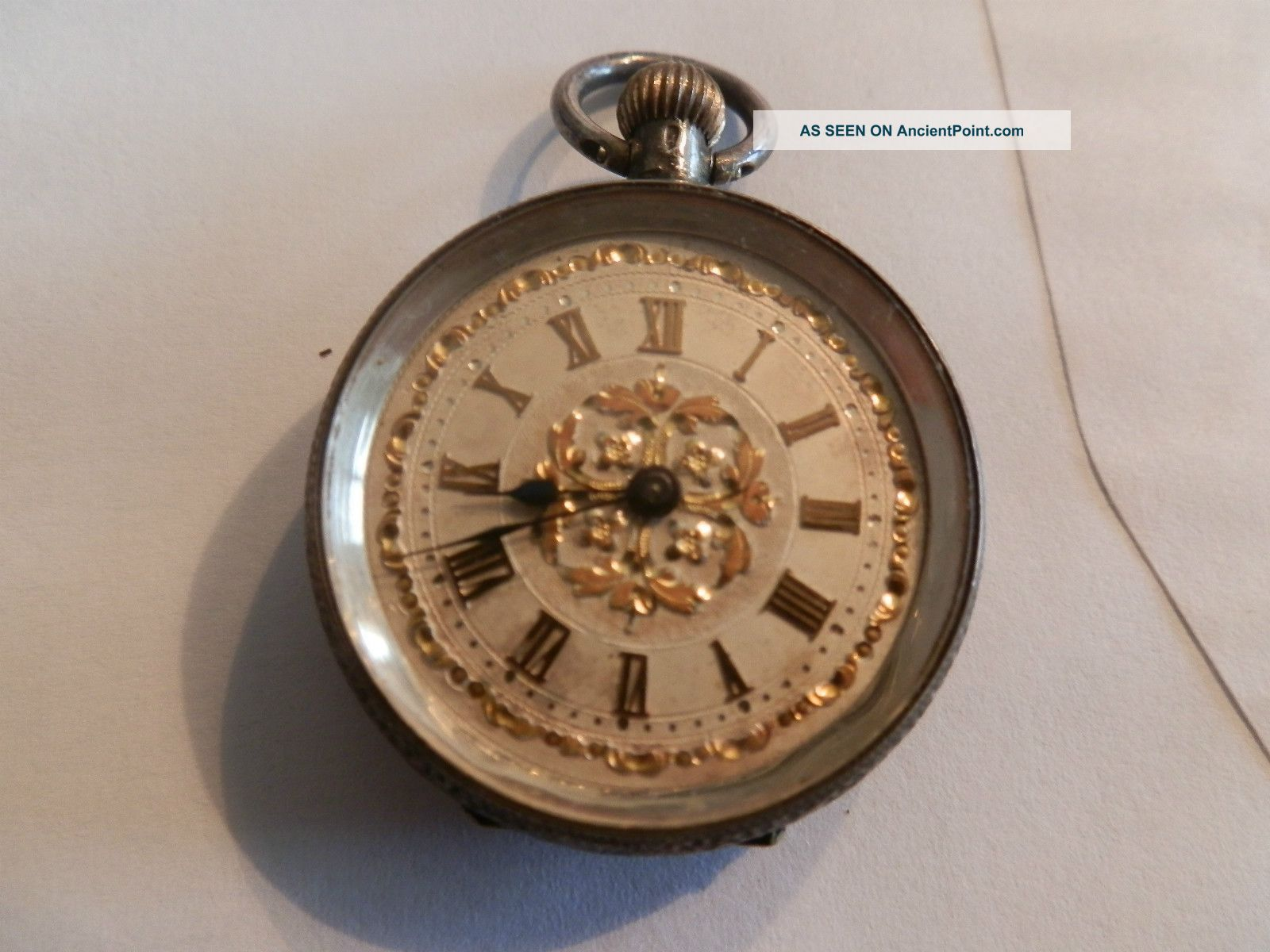 Pocket Watch Silver Antique For Repair Pocket Watches/ Chains/ Fobs photo
