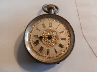 Pocket Watch Silver Antique For Repair photo