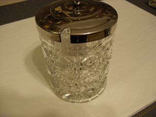 Vintage Crystal/glass Jam,  Jelly,  Condiment Jar With Lid photo