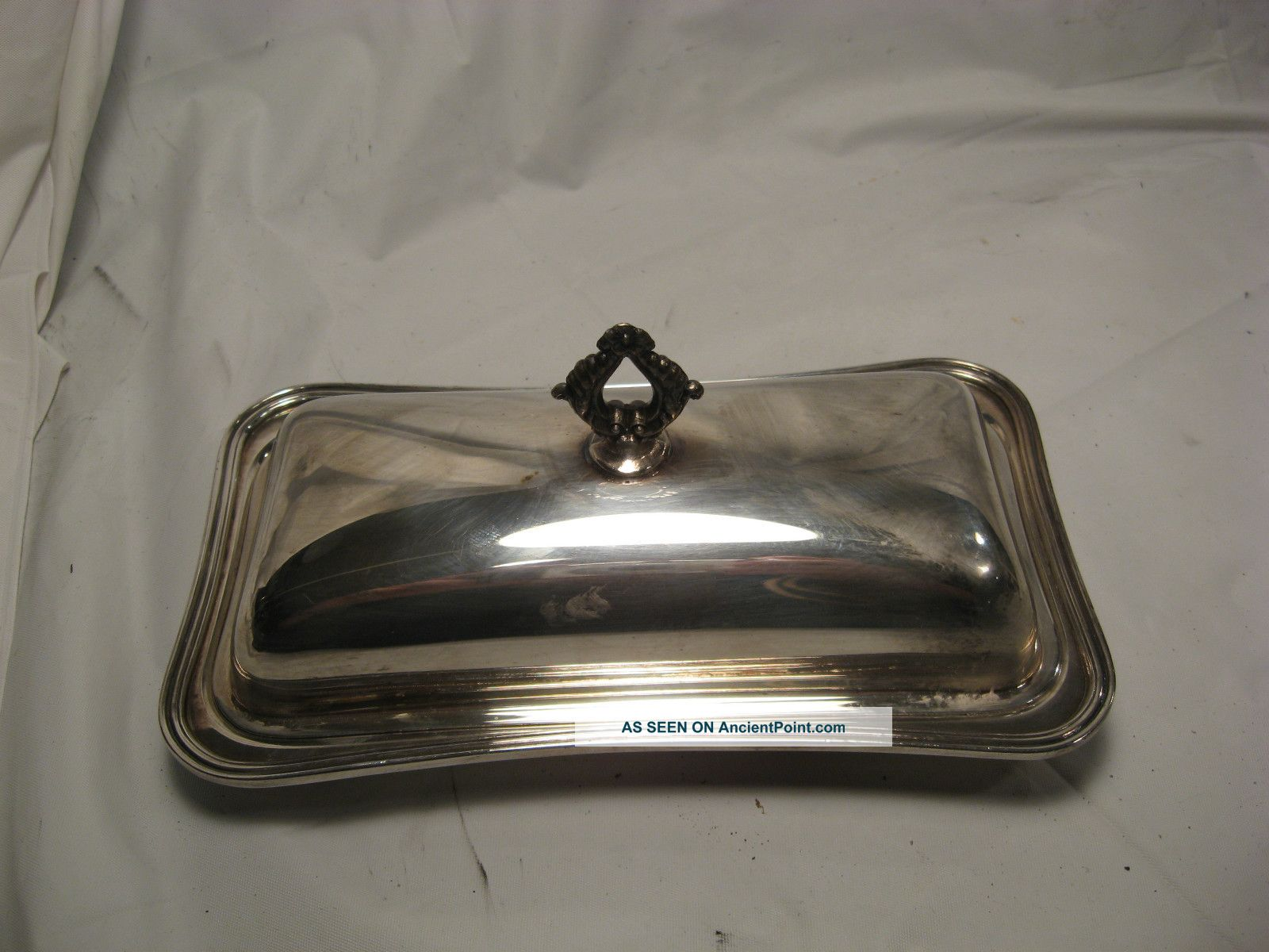 Antique 3 Piece Butter Dish By Crescent 4079p - Simple Elegant Lines Butter Dishes photo