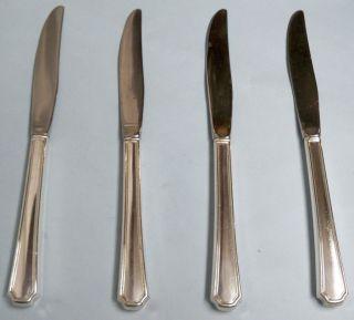 ONEIDA Silverplate CLAIRHILL//FAIRHILL Lot of 4 ~ 9 inch Dinner Knives