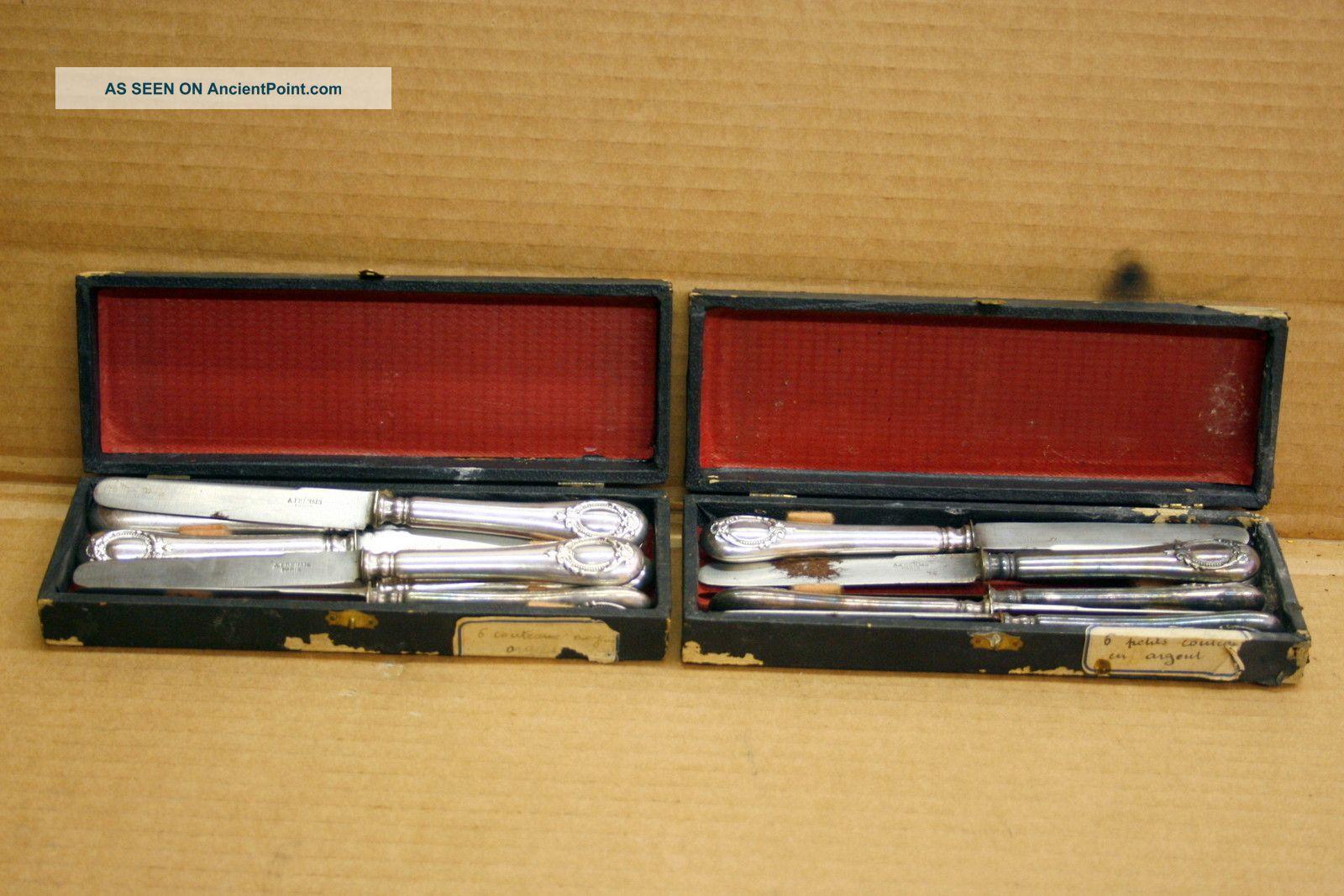 Antique French Flatware A.  Frenais Paris 12 Pc.  Knife Set Elegant Design Other photo