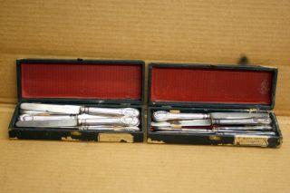 Antique French Flatware A.  Frenais Paris 12 Pc.  Knife Set Elegant Design photo