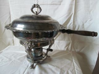 Vintage Godinger Silver Art Silverplated Fondue/chaffing/warming Dish photo