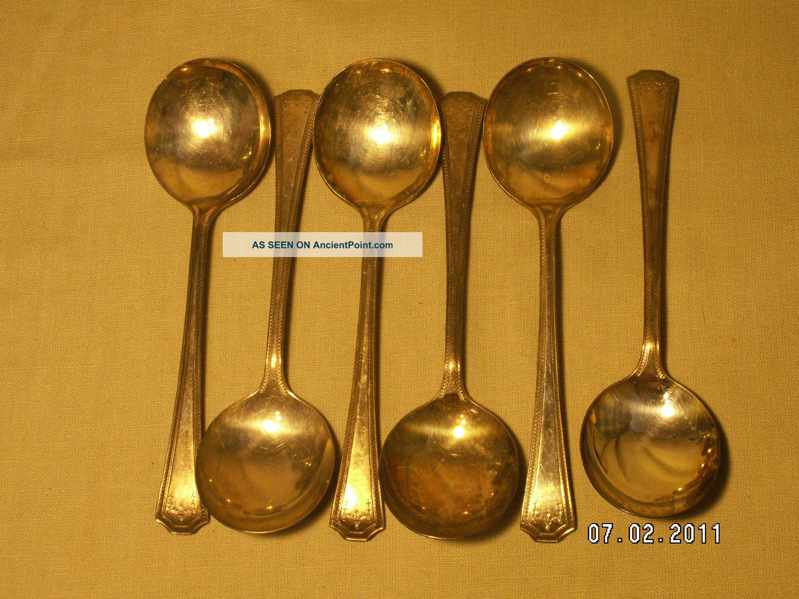 Epns Nsc Silver Spoon Fork Set Of 9 National Silver Company Vintage National photo