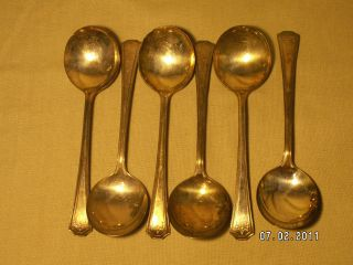 Epns Nsc Silver Spoon Fork Set Of 9 National Silver Company Vintage photo
