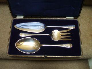 Antique Silver Plate/epns Serving Set. photo