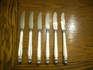 6 Holmes & Edwards 1938 Danish Princess Grill Knives Is Silverplate photo