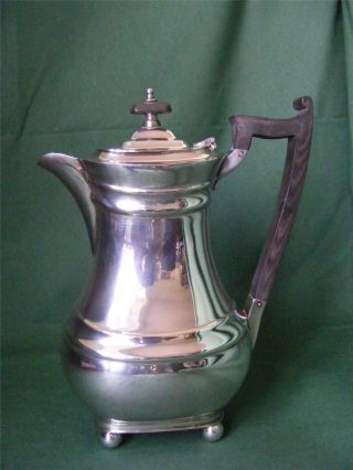 Silver Plated Vintage Elegant Coffee Pot By James Dixon & Sons: photo