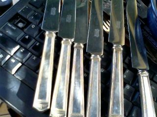 6 Vtg 1847 Rogers Bros.  Silverplate 1923 Anniversary Dinner Knives Forks Lot photo