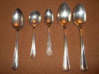 International Silver 5pc Spoons photo
