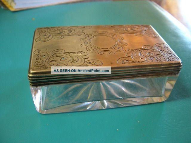 1865 Silver Dresser Box/jar By Ann Robertson Reg.  1801 United Kingdom photo