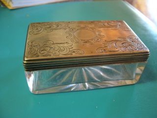 1865 Silver Dresser Box/jar By Ann Robertson Reg.  1801 photo