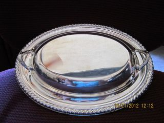 Wm Rogers Silverplate Covered Serving Dish Bowl Casserole photo