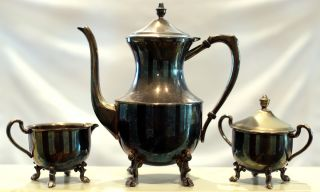 5th Avenue Silver Plated Tea Set - 3 - Piece photo