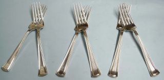 6 George Washington Luncheon Forks - 1913 Fine/classic Alvin - Clean & Table Ready photo