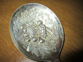 Old Epns Sheffield England El Repousse Serving Spoon 9