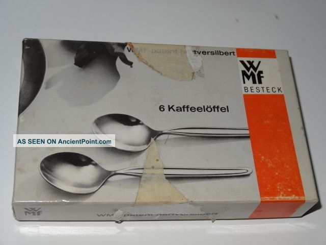 Silver Plated Set Of 6 Coffee Spoons By Wmf Of Germany Boxed Other photo