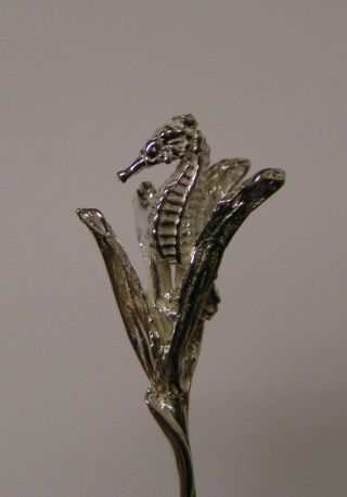 Salt Spoon (seahorse) Sterling Silver photo