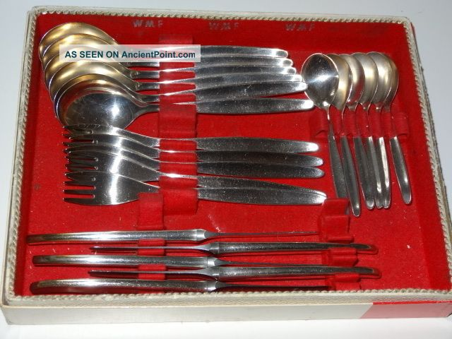 Silver Plated Set Of Knives Forks And Spoons By Wmf Of Germany Boxed Other photo