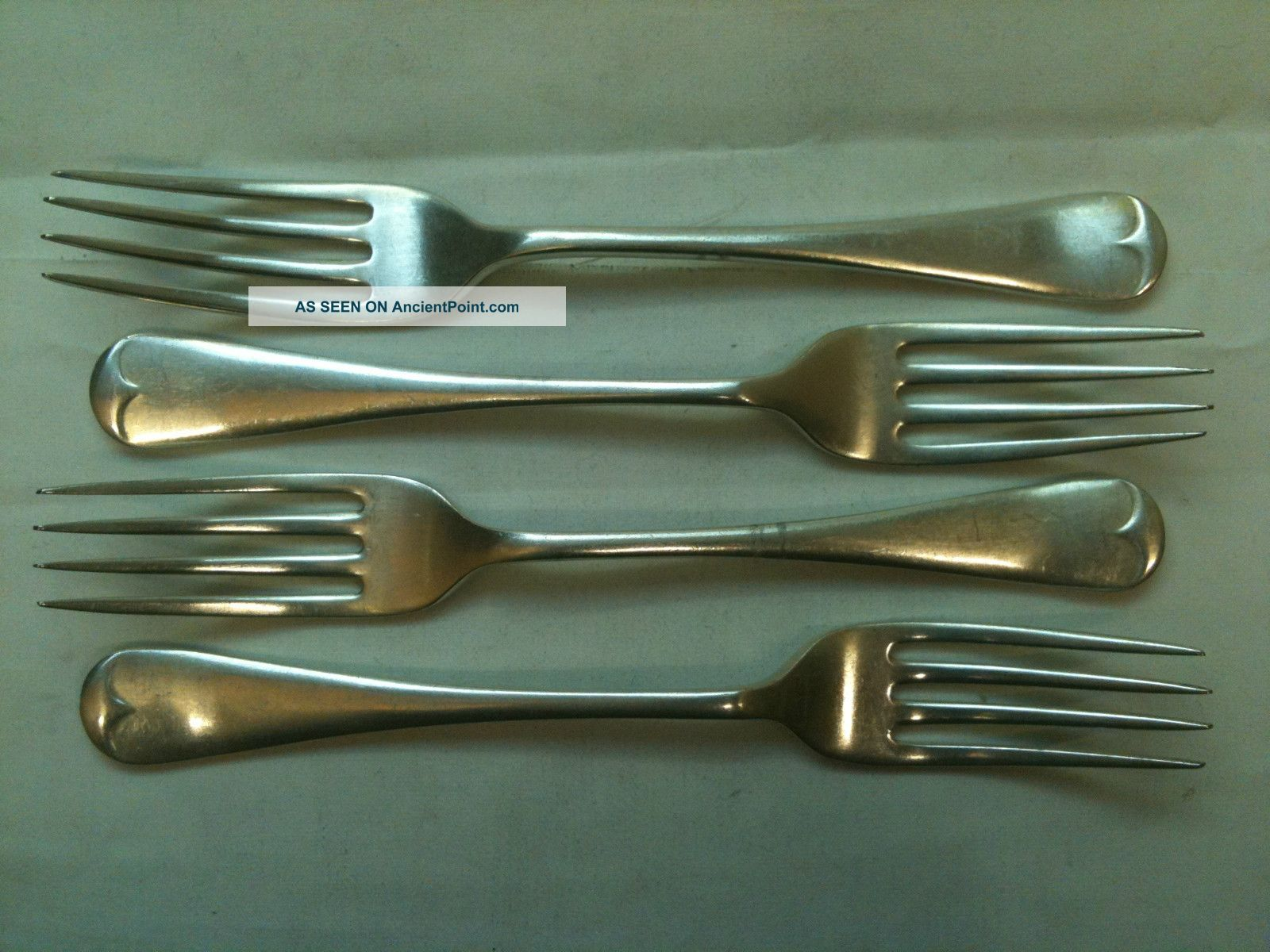 Set Of Four Silver Plated Forks Sheffield Late 1800s Ref 443 Other photo