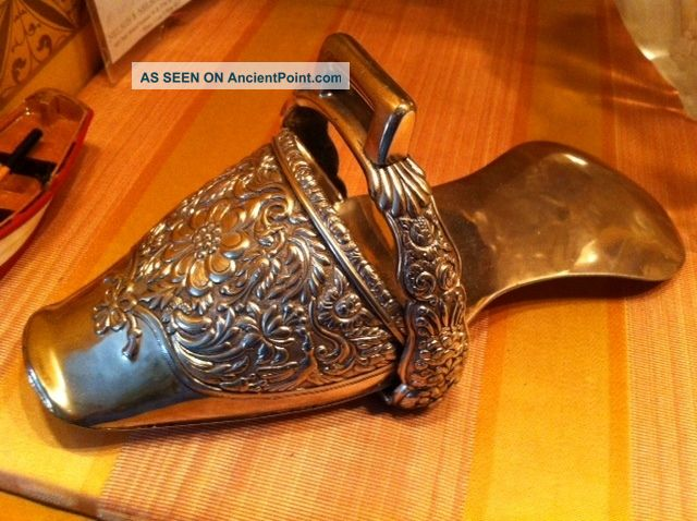 Antique Rare Silver Horse Stirrup Hand Made In Spain 1790 - 1820 Silver Alloys (.800-.899) photo