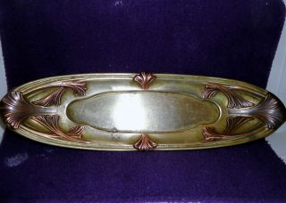 Deco Reed & Barton Unique Tray? Silverplate Gone (brass Only) W//bronze Trim photo