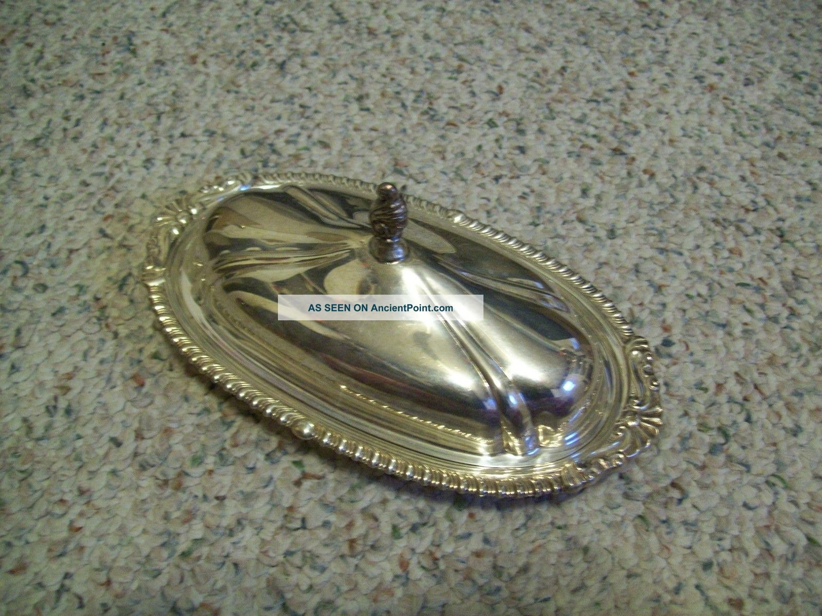 Antique Sheridan Silver Plate Covered Butter Dish And Liner Butter Dishes photo