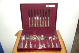 1847 Rogers Bros 8 Pieces Serving Cutlery Set Pattern Heritage photo